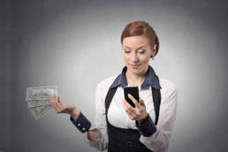 Girl with vouchercart earnings