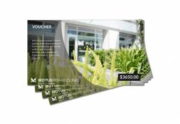 Motus Clinic Voucher Design