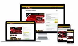 Vouchercart voucher sales page mockup for Pole Position raceway