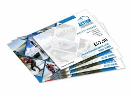 Voucher designs for Action Watersports